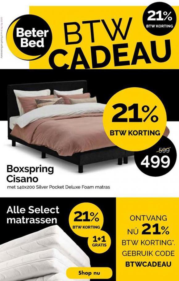 BTW Cadeau . Beter Bed (2020-04-14-2020-04-14)