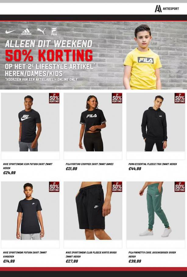 50% Korting!! . Aktiesport (2020-09-07-2020-09-07)