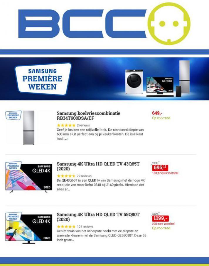 Samsung Première Weken . BCC (2020-11-08-2020-11-08)