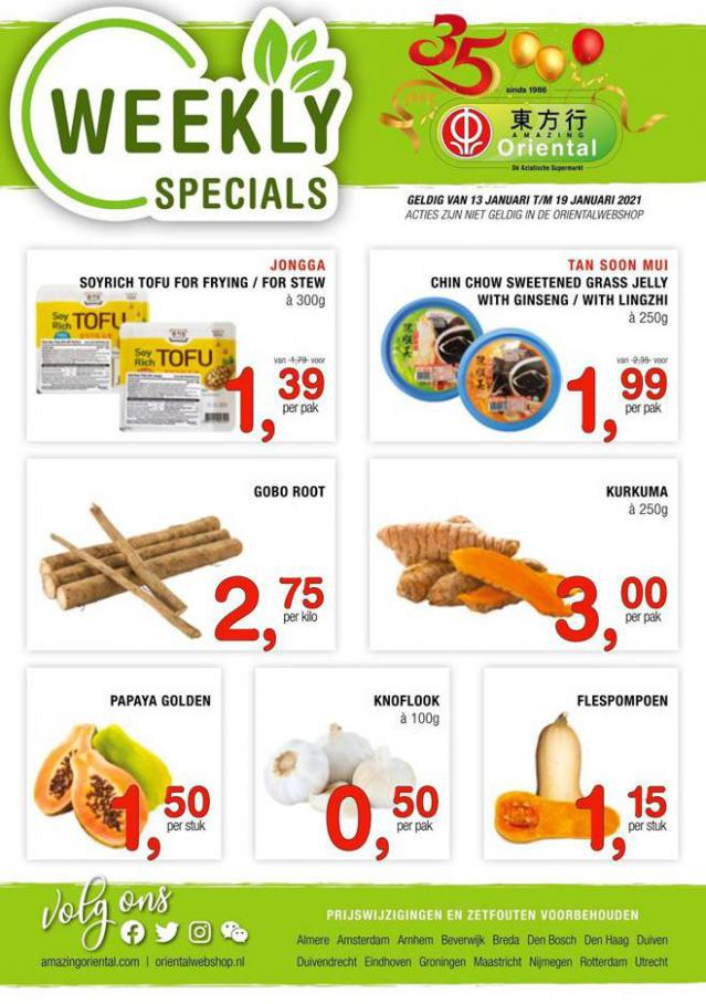 Weekly Specials . Amazing Oriental (2021-01-19-2021-01-19)