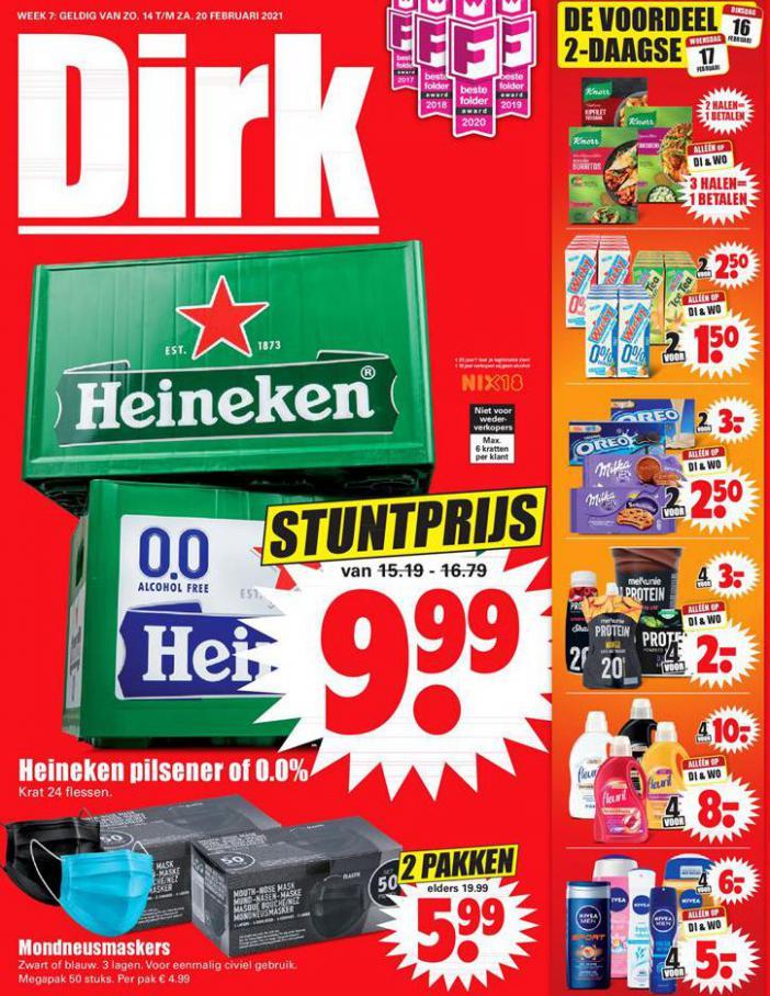 Dirk Aanbiedingen week 7 . Dirk (2021-02-20-2021-02-20)