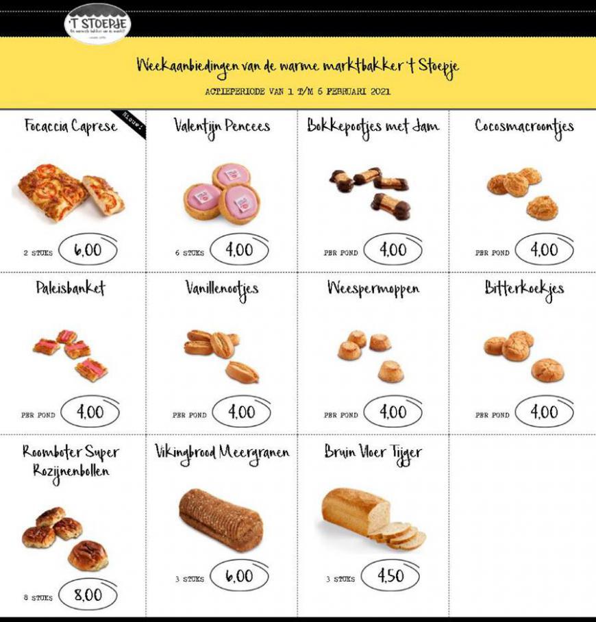 Aanbiedingen Week 5 . Bakkerij 't Stoepje (2021-02-06-2021-02-06)
