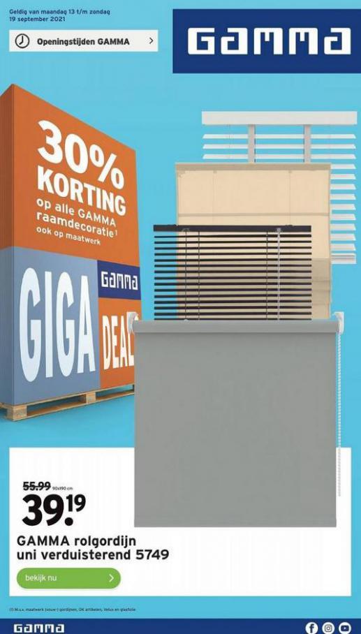 Giga Gamma Deals. Gamma (2021-09-19-2021-09-19)