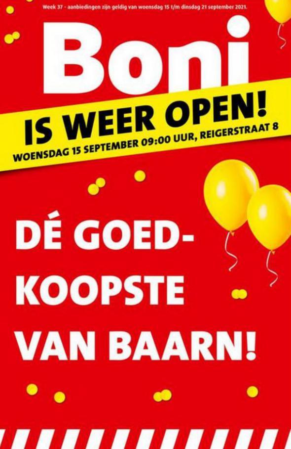 Is weer open!. Boni (2021-09-21-2021-09-21)