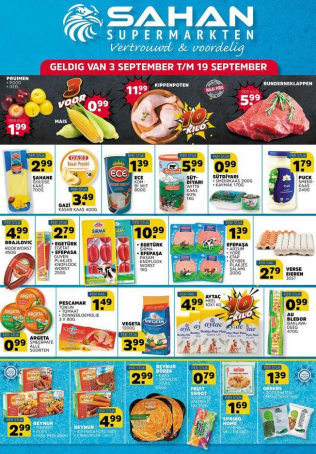 Aanbiedingen Folder. Sahan Supermarkten (2021-09-19-2021-09-19)
