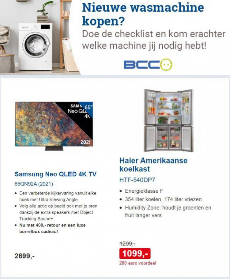 Nu extra voordeel op wasmachines en koelkasten. BCC (2021-09-24-2021-09-24)