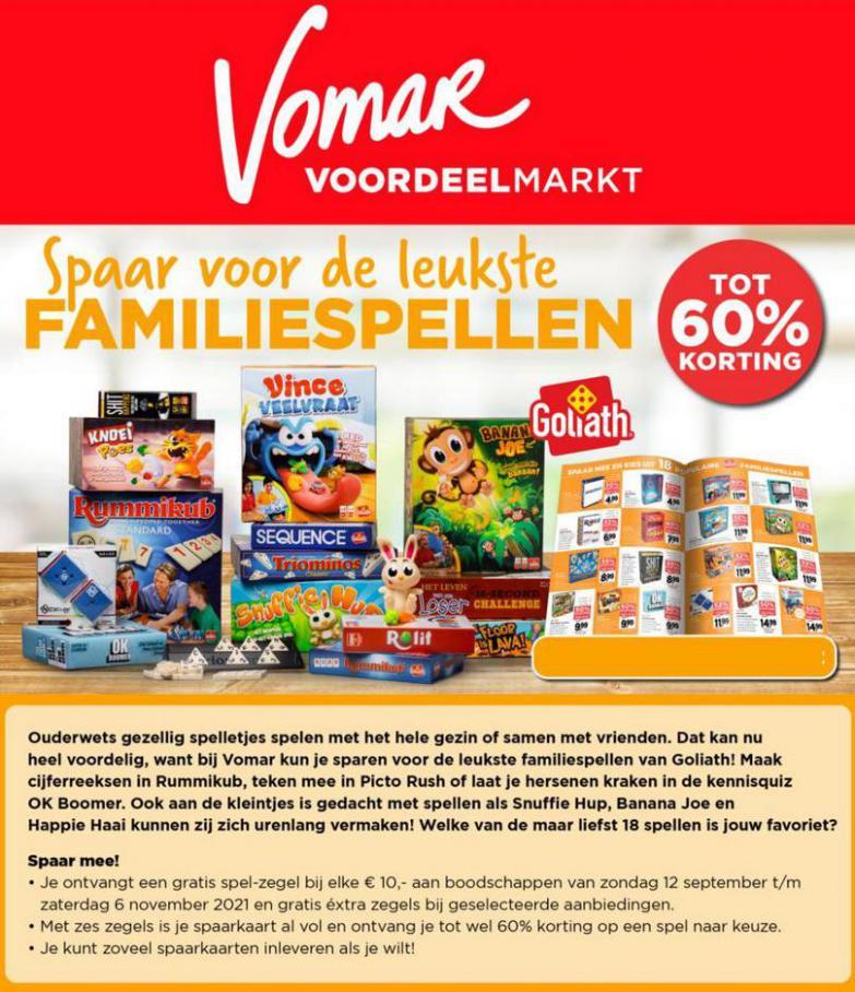Spaar voor de leukste Familiespellen!. Vomar (2021-09-17-2021-09-17)