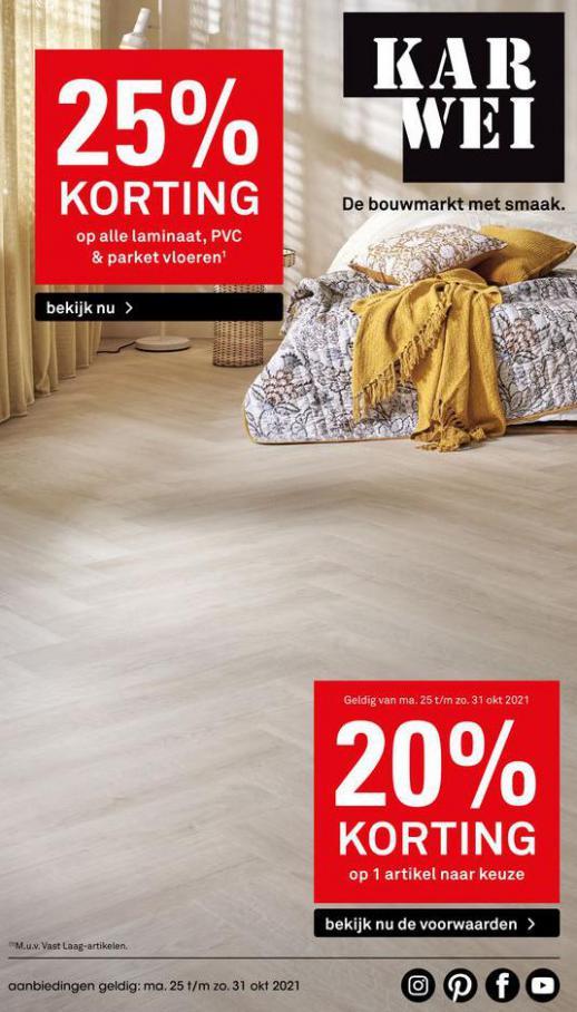 -25% op alle laminaat, PVC & parket vloeren. Karwei (2021-10-31-2021-10-31)