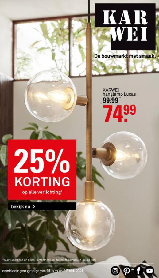 25% korting. Karwei (2021-10-17-2021-10-17)
